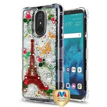 Paris Butterfly/Sparkle TUFF Glitter Hybrid Cover for LG Stylo 4 Plus/St... - $13.39