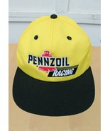 PENNZOIL RACING FORMULA 1 PIT CREW YELLOW EMBROIDERED CAP ADJUSTABLE HAT - $27.08