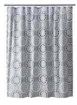 Threshold Blue Brown Medallion Cotton Shower Curtain Nwop - $13.49