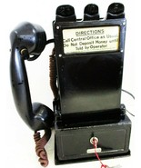 Gray Pay Station / Telephone w/ Handset Model 23D Circa 1900's - $1,095.00