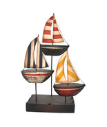 Sailboat Trio, Metal Art - $37.20
