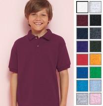 GILDAN Youth Unisex DryBlend 50/50 Jersey Sport Shirt Polo 8800B 8800-16 COLORS! - $5.40+