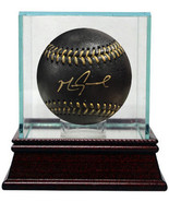 Mark Grace signed Official Major League Black Baseball w/ Glass Case- JS... - $102.95