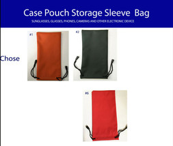 Pouch Bag Soft Clean sunglasses case storage eyeglass Carry water proof ... - $6.98