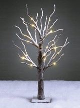 New Lightshare 24L LED lighted bonsai snow covered winter decoration battery run - $24.86