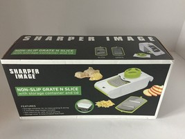 Sharper Image Non Slip Grate N Slice with Storage Container and Lid - $14.11