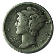 1921D Mercury Silver Dime 10¢ Coin Lot# MZ 3332