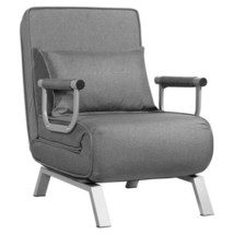 Folding 5 Position Convertible Sleeper Home Armchair Lounge Couch w/ Pil... - $175.32