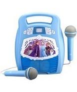 eKids - Frozen II Bluetooth MP3 Karaoke System - White/Light Blue - $70.54