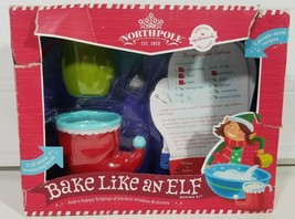 Hallmark Northpole Bake Like An Elf Baking Kit Measuring Cups Recipe Cards - $9.69