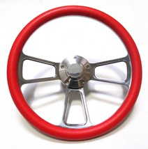 "El Camino Chevy Super Sport SS Red Steering Wheel 14"" Billet Muscle Style Wheel - $127.90"