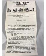 Vintage Clue Board Game Instruction Sheet 1949 Parker Brothers - $9.00