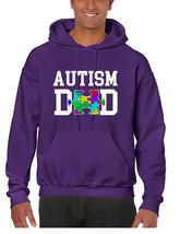 Men's Hoodie Autism Dad Proud Autistic Awareness Top - $29.94+