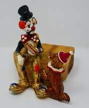 Ron Lee 1980 Hobo Clown Figurine Sharing a Hot Dog with a Dog Sculpture - $56.99