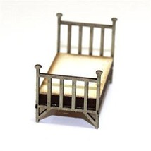 4Ground 28mm Furniture: Single Brass Bed