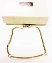 AVON Gold Tone Reversible Chain Bracelet Fashion Bracelet 6.5'' - $6.95