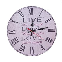 """George Jimmy 14"""" Retro Unique Wooden Wall Clock Decor Silence Hanging Cl... - $33.48"""