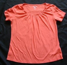 45811d27673 Riders By Lee Instantly Slims You orange short sleeve top size L -  3.99
