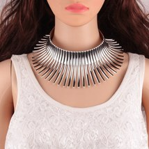 2017 New Retro Religion Super Exaggerated Alloy Choker Necklace for Wome... - $18.86