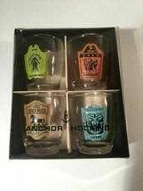 Anchor Hocking Shot Glass Set Tavern Bar Pub Man Cave Temperance Vintage Made US - $9.89
