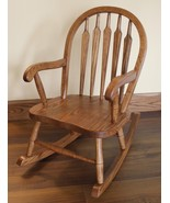 New! Amish Crafted Child's Rocker, Arrow Back Style, Oak with Medium Bro... - $159.99