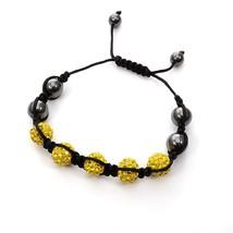 Adjustable Magnetic Hematite Round Bead Stretch Bracelet Men Women Rhine... - $13.71