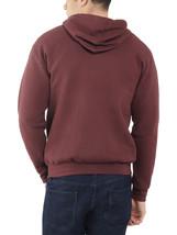 Men's Fruit of the Loom Eversoft Fleece Full Zip Hoodie Sweater Jacket 4XL image 2