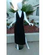 Versus Gianni Versace Dress Long BLACK Cutouts Sexy Gown Black Label Sz-... - $466.32