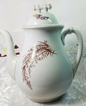 ANTIQUE IRON STONE CHINA WARRANTED COFFEE POT image 2