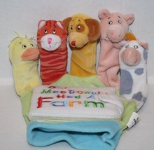 Little Scholastic OLD MACDONALD Animal Fingers Hand Puppet Board Book So... - $15.45