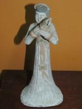 "Chinese Mud Woman 8"" musician musical Sheng white China Mudman Man Antiq... - $134.99"