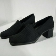 "Liz Claiborne Women's Shoes Black Ribbed  Stretch Fabric 2.5"" Heels MSRP $49 - $18.81"