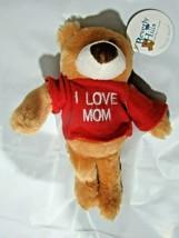 "I LOVE MOM Plush Teddy Bear 9"" tall by Beverly Hills Teddy Bear Co. - $6.99"