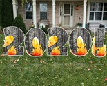2021 New Years Eve Party Supplies - 7 STYLES OF BURNING 2020 YARD LAWN SIGN