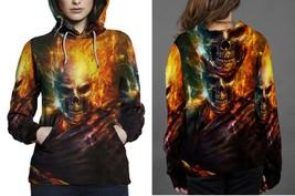 Skull On Fire Women's Hoodie - $44.80+