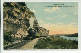 Sunset Route Railroad Train Hanging Rock 1910c postcard - $6.44