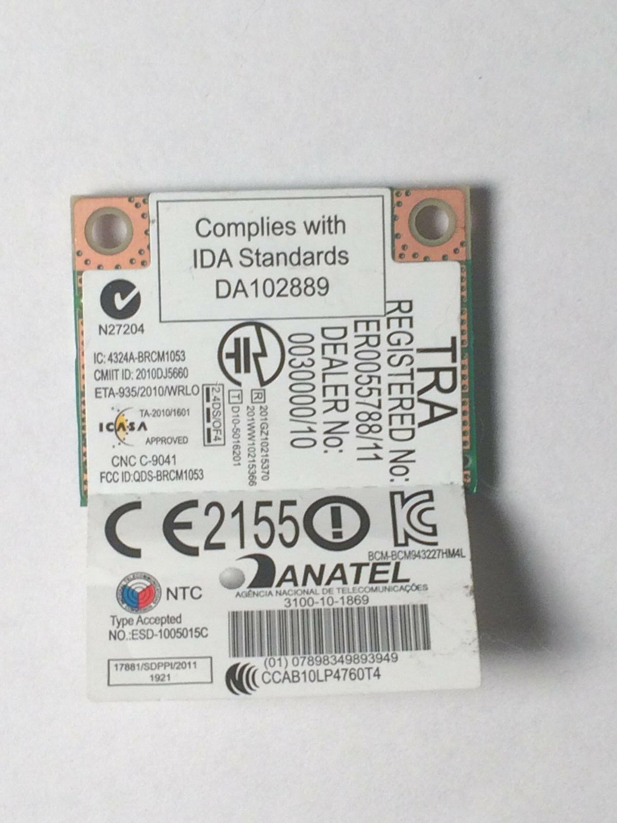 NI.23600.066 Acer Broadcom Wireless WIFI WLAN Card Mini PCI-E T77H268.00 HF image 2
