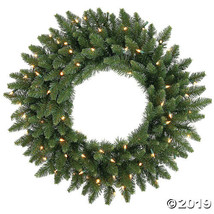 "Vickerman 24"" Camdon Fir Christmas Wreath with Warm White LED Lights - $44.00"