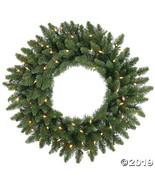 "Vickerman 24"" Camdon Fir Christmas Wreath with Warm White LED Lights - $44.00"