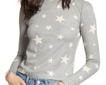 bp Nordstrom grey monument seeing stars print cozy thermal waffle knit top small