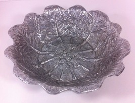 Wilton Armetale Pewter Bowl Rare Pattern Cauliflower Broccoli or Cabbage... - $44.55