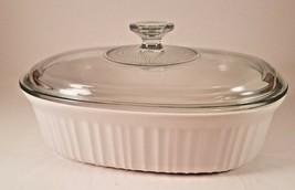 "CorningWare French White Oval Casserole Dish 11"" x 8 1/4"" 2.5 Quart with Lid - $18.70"