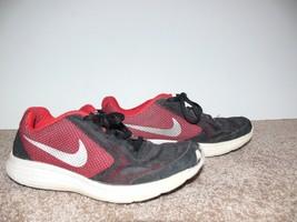 Nike Kids Revolution 3 Athletic Shoes Boy Black & Red Size 4.5 Y ek - $10.00