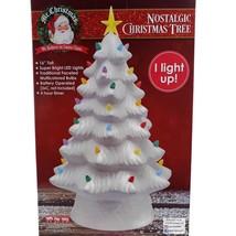 Mr. Christmas Nostalgic Christmas Tree White Ceramic NEW - $49.49