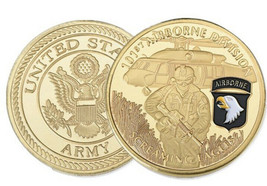 Challenge coin US ARMY 101th Airborne Division  Screaming Eagles Infantry - $13.08