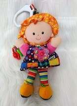 Lamaze Girl Doll Baby Lovey & Rattle Teether Stroller Crib Activity Toy ... - $9.00