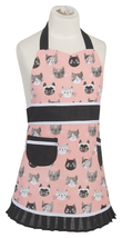 Now Designs Cats Meow Sally Kids Apron 100% Cotton Kitchen Little Helper Childs - $22.95