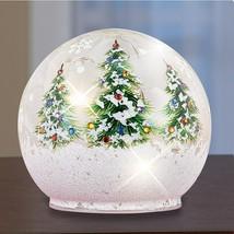 Holiday Lighted Small Christmas Tree Table Top Glass Figurine Ball NEW - $16.83