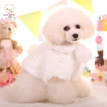 Cute winter warm fleece dog cloak cape coat jacket chihuahua dog princes... - $35.00
