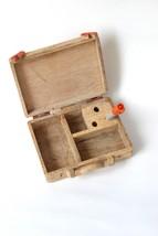 IMI Handmade Crafted Suitcase Shaped Desk Organizer- Orange - $28.99